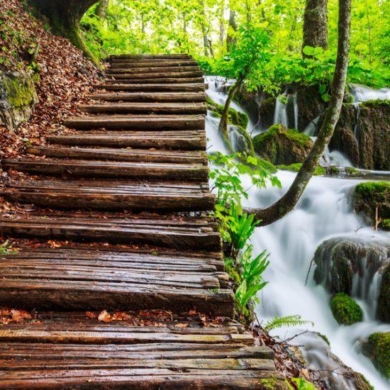 plitvice wooden path