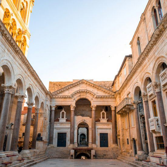 cathedral square in split city in croatia