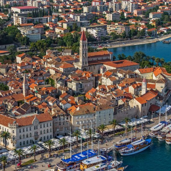 trogir old town panorama