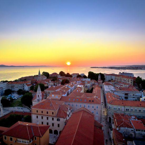City of Zadar skyline sunset view